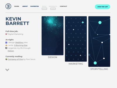 New Personal Site Mockup portfolio site portfolio web design illustrator webflow wip mockup personal website personal