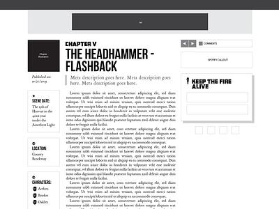 O Burning Star | Scene Template Redesign Mockup wireframe wip illustrator mockup web design webflow