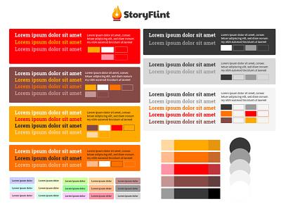 Color Exploration for StoryFlint vector art direction illustrator graphic design design color theory color scheme web design branding design branding colorful color palette colors color