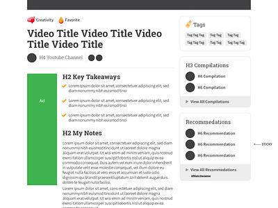 StoryFlint | Curated Video Page Mockup uidesign mockups mockup ui vector design webflow illustrator graphic design branding web design