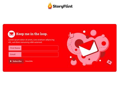 StoryFlint Email CTA Block email marketing call to action cta email design ui uidesign illustrator graphic design web design