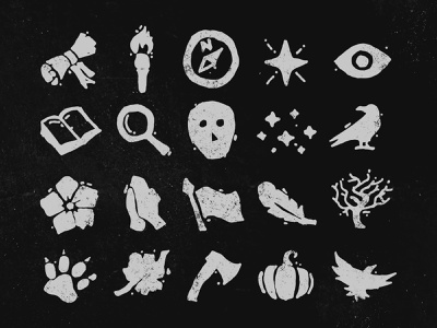 O Burning Star Iconography woodcut illustrator black and white texture grunge texture photoshop linocut block print grunge art direction branding web design icons iconography graphic design
