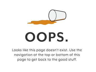 404 Page - New Scotty's Brewhouse website website restuarant craft beer beer web design illustration graphic  design web 404 page uidesign