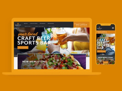 Scotty's Brewhouse | Website Redesign ui ui  ux uidesign webflow graphic design branding beer branding website restaurant beer craft beer ui  ux design web  design
