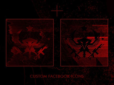 facebook icons for Lex Talionis peter nealen military black red icons social media facebook
