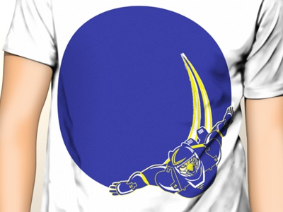 Shirt in Progress cougar color two blue and yellow theme space cosmic