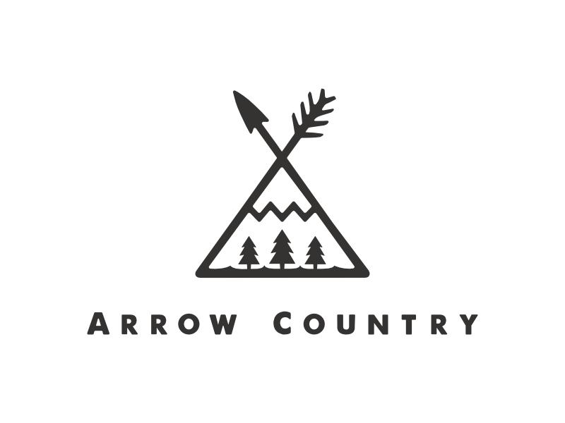 Arrow Country Emblem country arrow logo branding emblem mark hunting nature outdoors