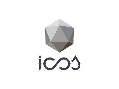 icosapp Emblem typography type identity monogram lettering icos mark logo emblem branding icosa