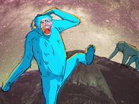 planet of blue monkeys