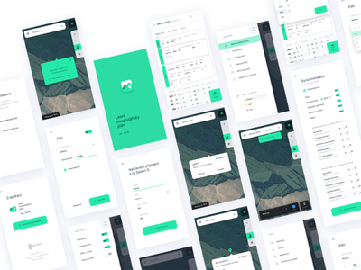 App For Czech Foresters white ux ui green foresters forest clean app