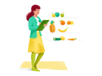 Nutritionist   Illustration For Vittle Nr. 3