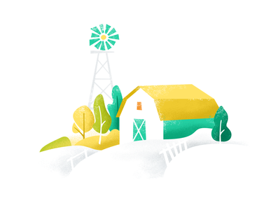 Farm, Illustration For Vittle Nr. 4 website ux ui yellow green illustration house tree delivery food farm