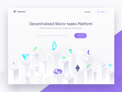 Crypto Illustration white website web ux ui buildings city illustration crypto clean