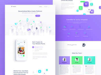 Fragments Homepage white website web ux ui illustration crypto clean city buildings