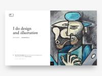 Illustration Man With The Grey Apple blue painting mac personal website website art man illustration self-portrait portrait