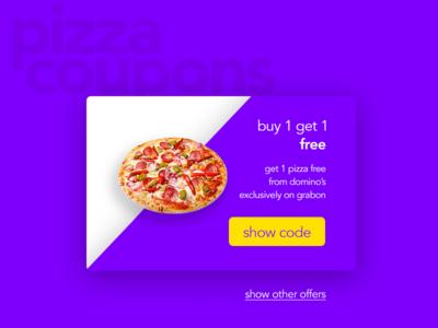 Pizza Coupon UI