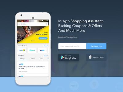Grabon App Landing Page