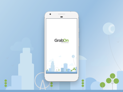 GrabOn App Splash Screen Illustration