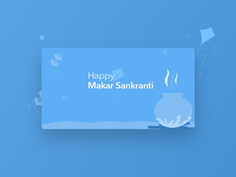 Happy Makar Sankranti | GrabOn ui ux app design card design indian festivals shopping festival pongal offers illustration coupons grabon