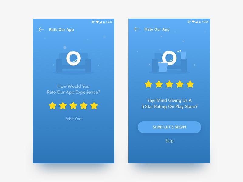 Rate The App Screen | GrabOn App app rating ui ux app design mobile app ecomm android offers app coupons grabon