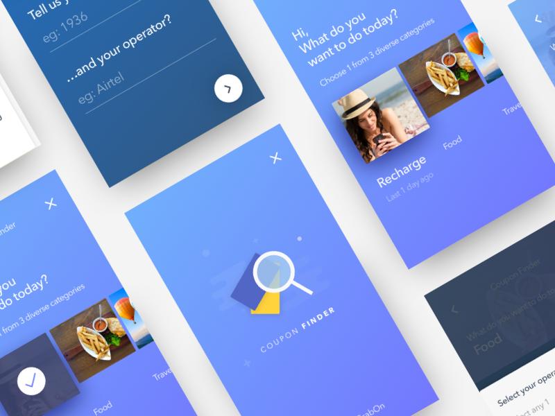 GrabOn   Coupon Finder app design design material ui ux ecommerce offers deals coupons shopping ux ui grabon