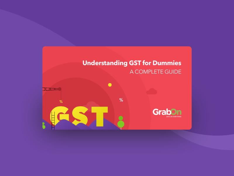 GrabOn | GST: Goods & Service Tax | Illustration ux uiux ui tax card offers gst grabon goods service tax ecomm coupons