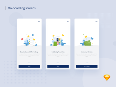 App On-boarding Screens