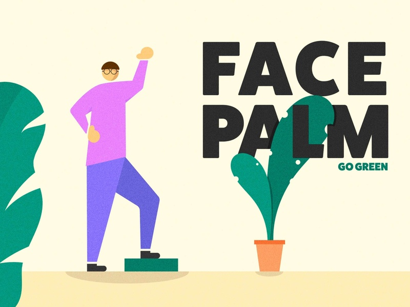 Face Palm green plants nature character face palm