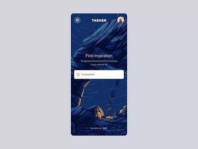 Tasker inspiration interaction design interaction ux illustration google design material behance inspiration graphic motion google app concept ui
