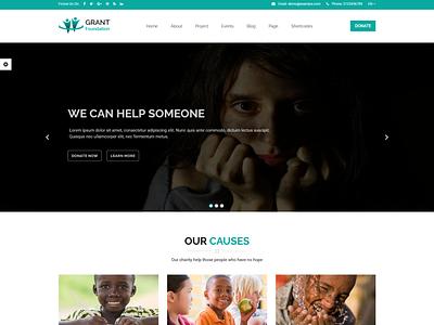 Grant Foundation   Nonprofit Charity HTML Template volunteer social donation rtl html organization nonprofit template nonprofit organization nonprofit charity non-profit ngo fund foundation donation donate charity foundation charity