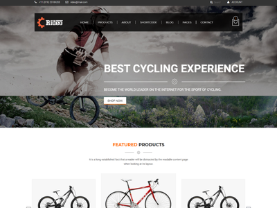 Rideo   Bicycle Store HTML Template sport bicycle sport bicycle responsive online modern minimalist minimal cycle clean bike store bike shop bicycle accessories