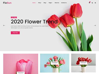 FloSun   Flower Shop HTML5 Template shopping responsive html online shop modern gift flower shop flower delivery flower arrangement florist shop events flower decoration decor bouquet bootstrap5
