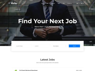 Keller   Job Board HTML Template resume template recruitment recruiting recruiters listing jobs job postings job portal job listing job directory job board job employment career candidates