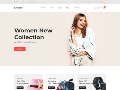 Destry   Fashion eCommerce HTML Template shopping store shop online store fashion html fashion elegant clothing accessories