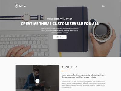 Bizniz   Corporate Business HTML Template responsive organization template modern digital agency creative agency creative corporate business corporate company clean business bootstrap blog advertising