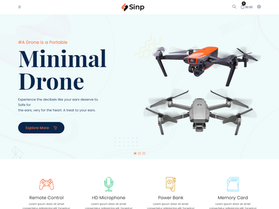Sinp - Single Product Multipurpose Shopify Theme devices store shopify theme e-commerce shopify theme multipurpose shopify theme