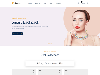 Ghona – Jewelry Shopify Theme minimal shopify multipurpose ecommerce dark jewellery website gift jewelry template cosmetic shopify store e-commerce jewelry shopify theme