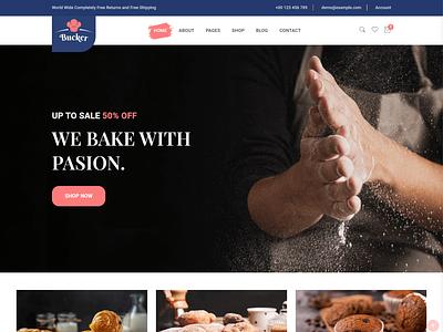 Bucker – Bakery Shop HTML Template sweets cookies shop bake and cake html5 template pastry shop template bootstrap web template bakery shop website bakery shop html template