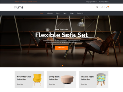 Furns - Furniture Shopify Theme decor handmade shop ecommerce shopify herbal products readymade garments kids fashion shopify theme furniture shopify theme