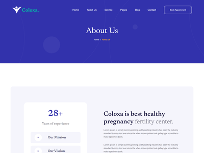Coloxa - Pregnancy Care Medical Bootstrap 5 Template baby health web template child care template bootstrap medical theme template gynecologist web template medical health care template maternity web template medical care template