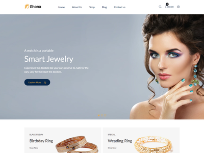 Ghona – Jewelry Shopify Theme cosmetic store shopify theme women gold shopify template jewellery minimal shopify theme fashion store shopify  theme e-commerce shopify theme jewelry shopify theme