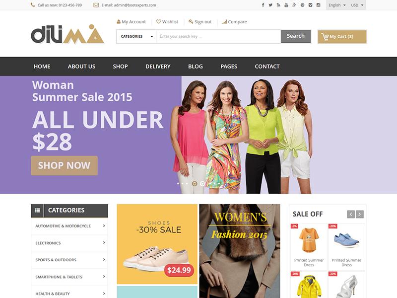 Dilima Mega Store Responsive Html Template By Devitems Llc