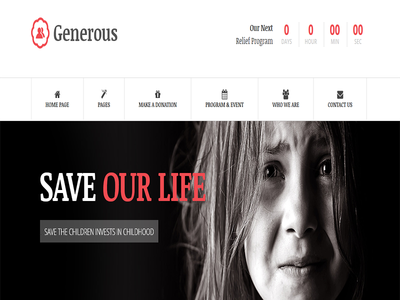 Generous - Charity HTML Template poverty orphan ngo lorn fund raising events event management donation crunchpresss crowdfunding
