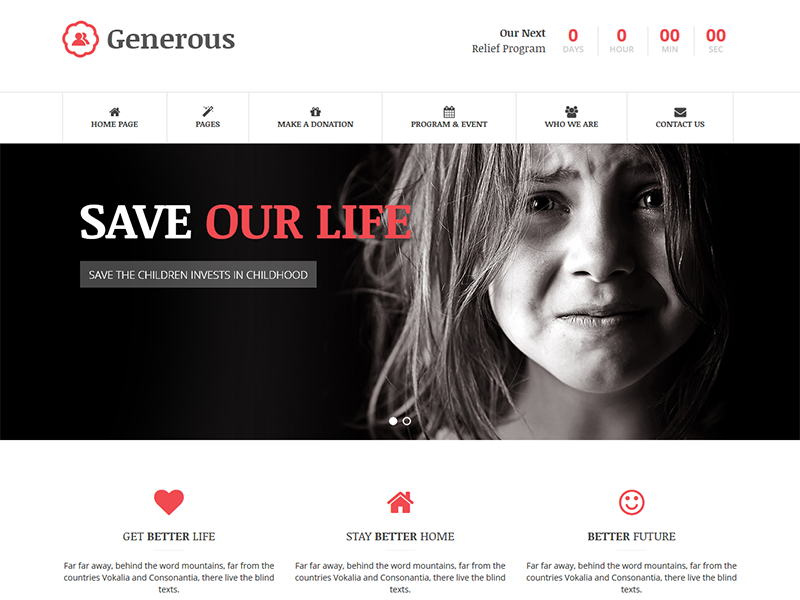 Generous - Charity HTML Template by DevItems LLC Dribbble Dr