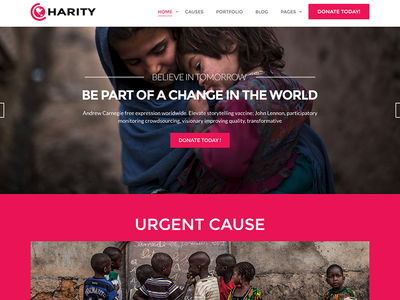 Charity - Responsive HTML Template