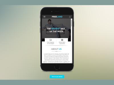 Freeland – e-Commerce Mobile App PSD Template