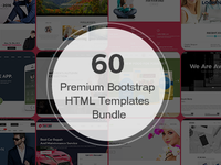 60 Bootstrap HTML Templates Bundle
