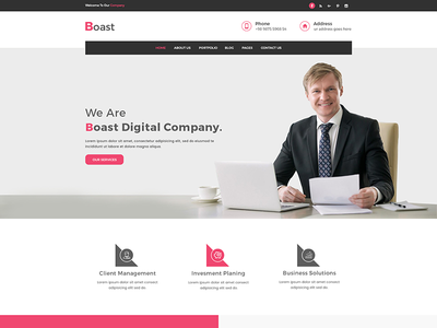 Boast – Corporate HTML Template  html template corporate site clean templates clean  creative business web bootstarp