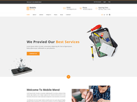 Mobile Mend – Mobile Repair PSD Template