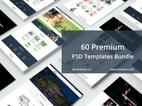 60 Premium PSD Templates Bundle only $39
